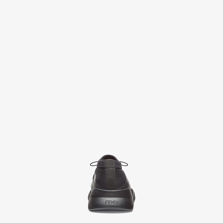 FENDI SNEAKER - Low top in tessuto tecnico nero - vista 3 dettaglio