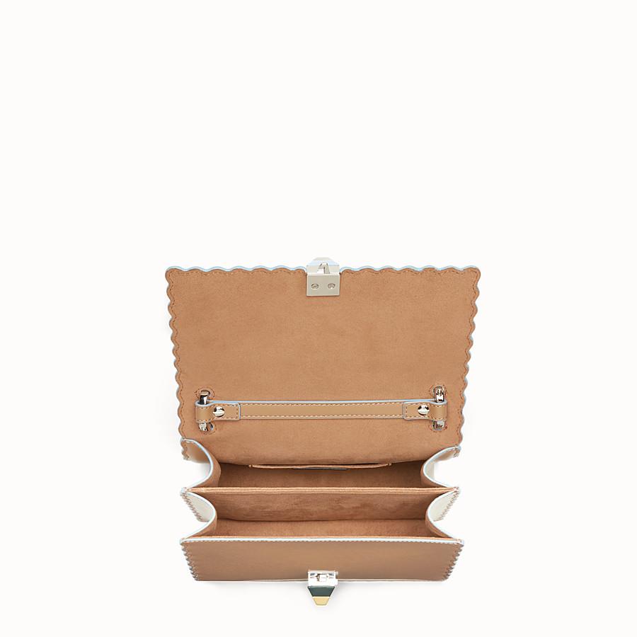FENDI KAN I SMALL - Sand-coloured leather mini bag - view 4 detail