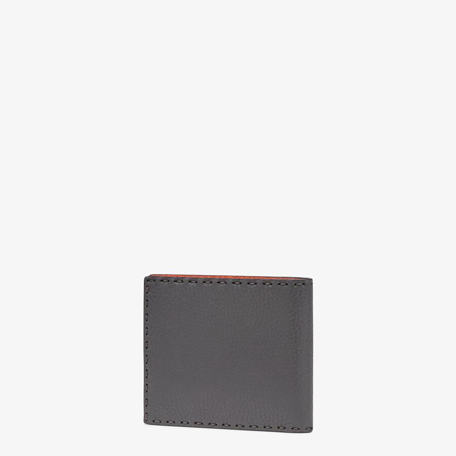 FENDI WALLET - Bi-fold wallet in gray leather - view 2 detail