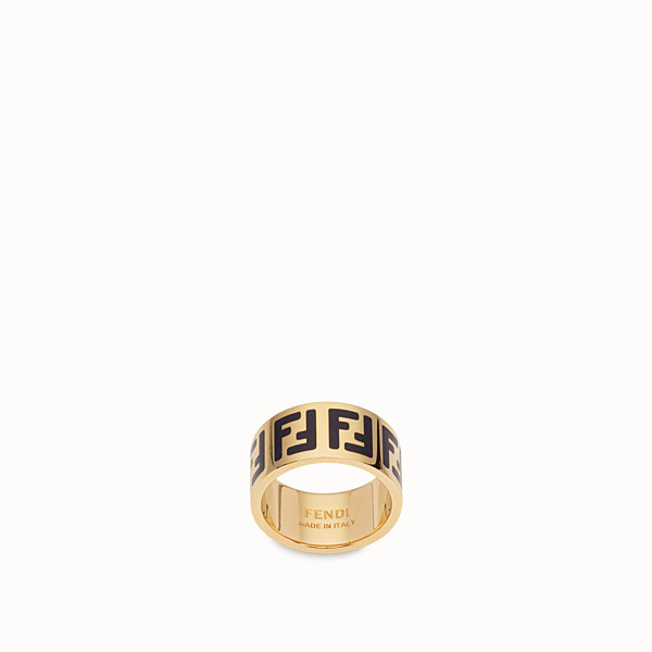 FENDI FF RING - Gold-colour ring - view 1 small thumbnail