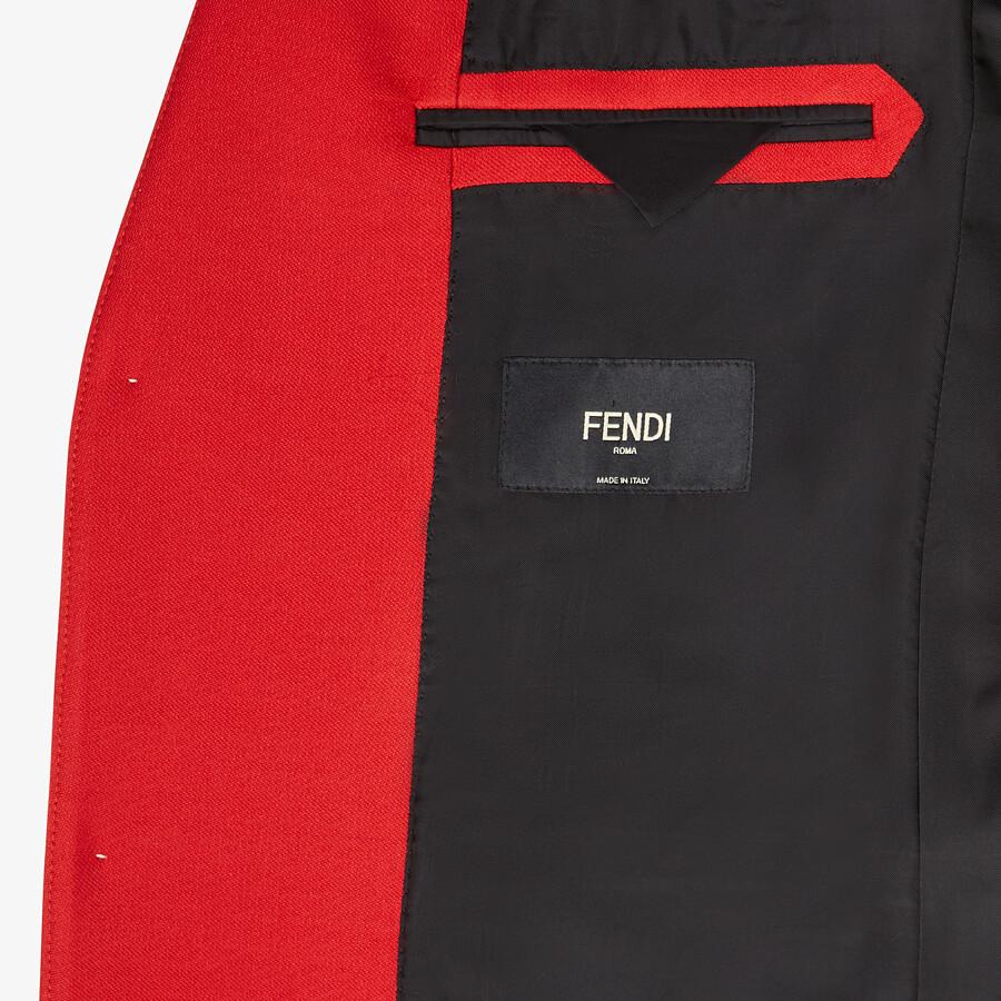FENDI JACKET - Red wool jacket - view 5 detail