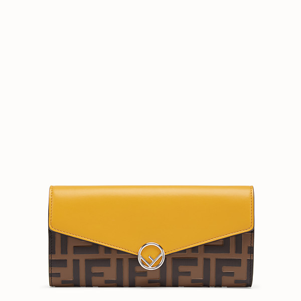 FENDI CONTINENTAL - Yellow leather wallet - view 1 small thumbnail