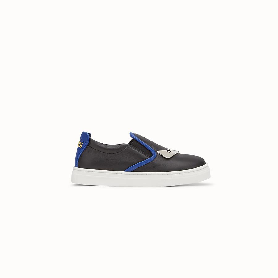 FENDI SCHUHE - Slipper-Sneaker aus schwarzem Nappaleder für Jungen - view 1 detail