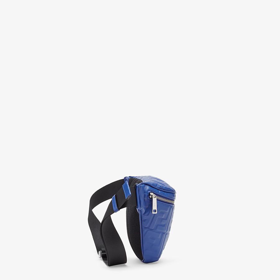 FENDI BELT BAG - Blue nappa leather belt bag - view 2 detail