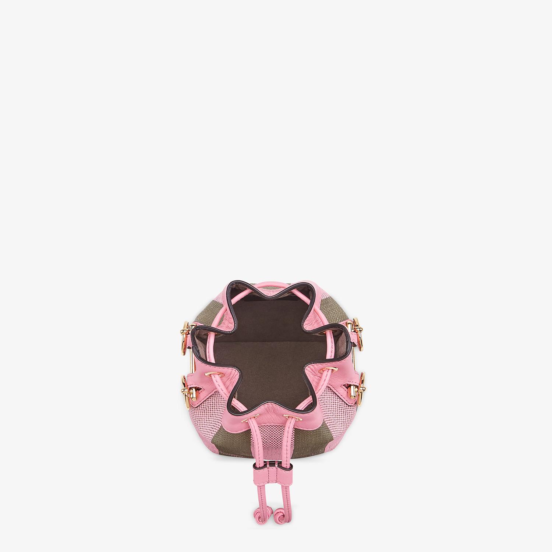 FENDI MON TRESOR - Pink raffia mini bag - view 5 detail