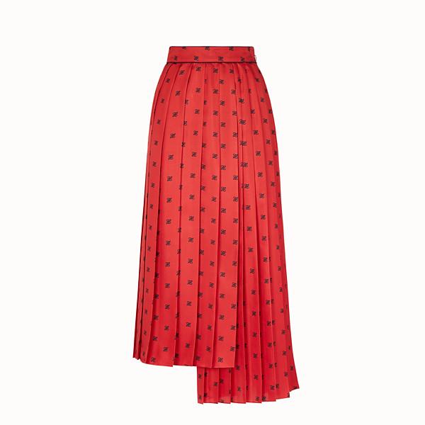FENDI SKIRT - Red silk skirt - view 1 small thumbnail