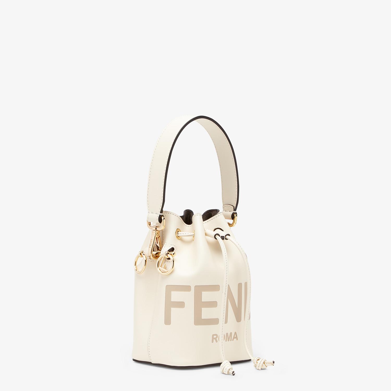 FENDI MON TRESOR - White leather mini-bag - view 3 detail
