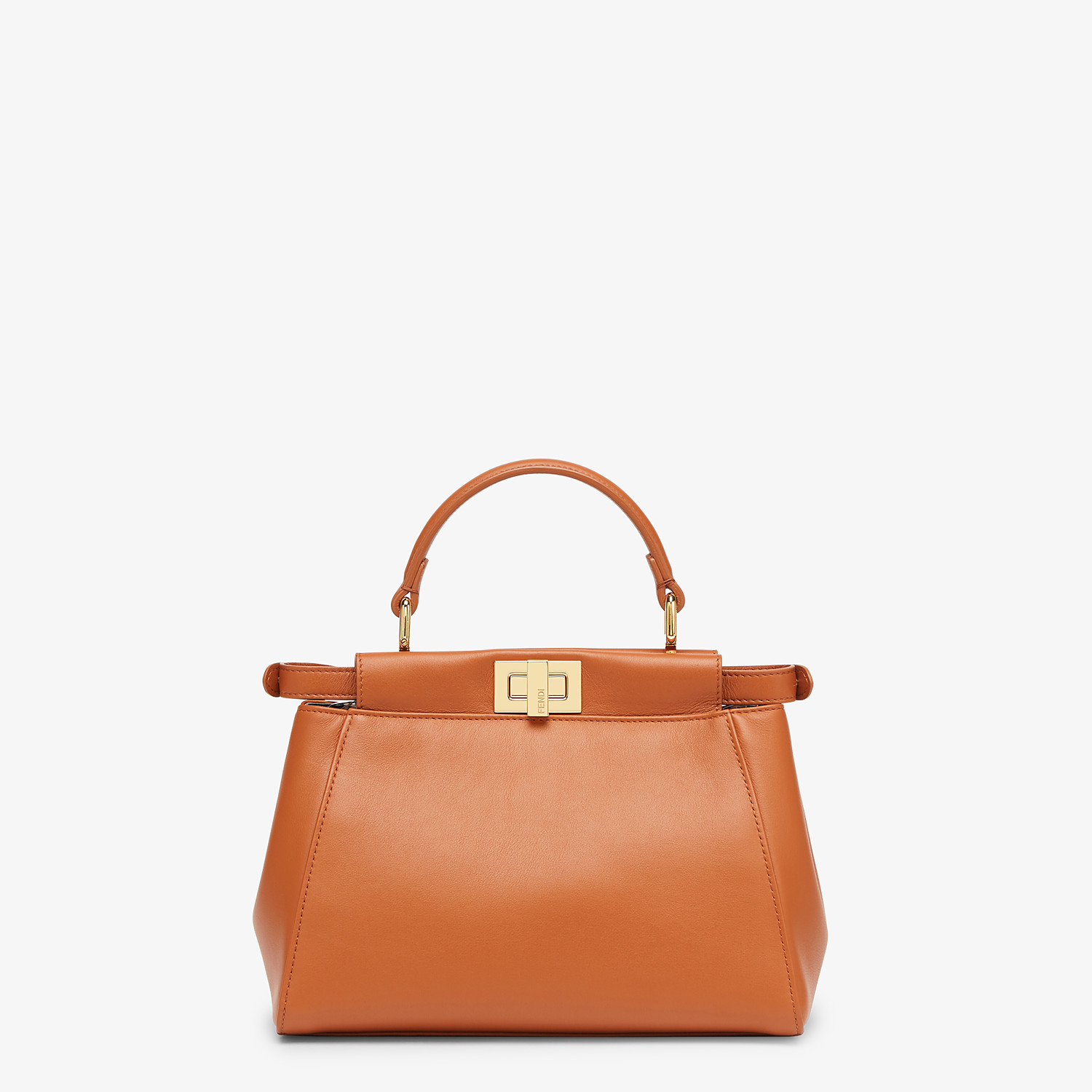 FENDI PEEKABOO ICONIC MINI - Brown nappa leather bag - view 4 detail