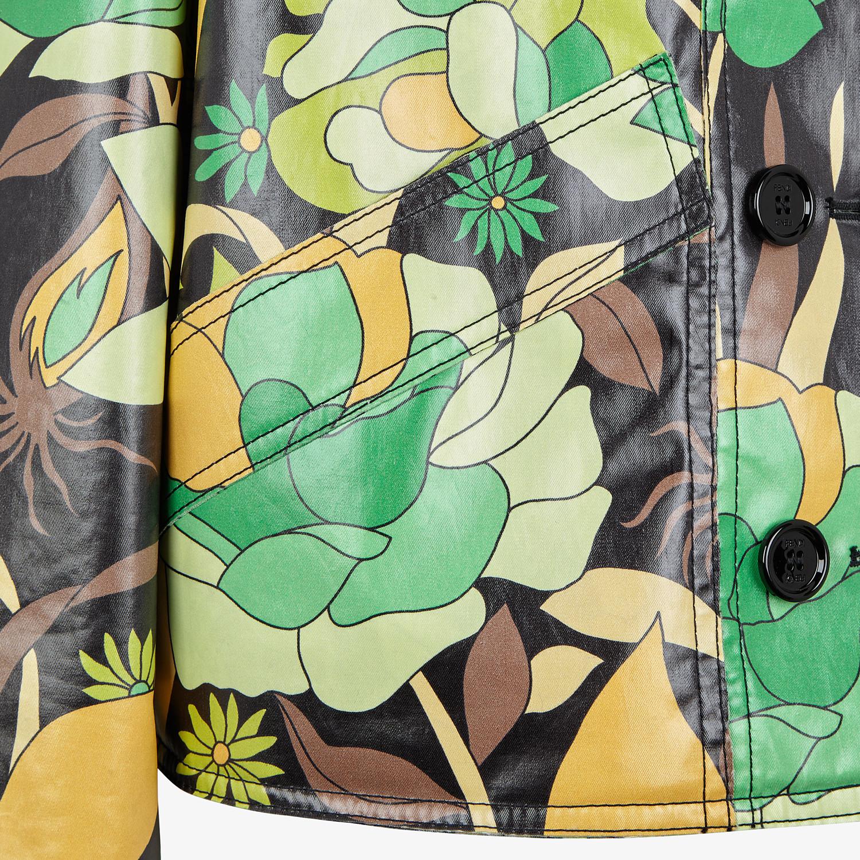 FENDI JACKET - Multicolour cotton jacket - view 3 detail