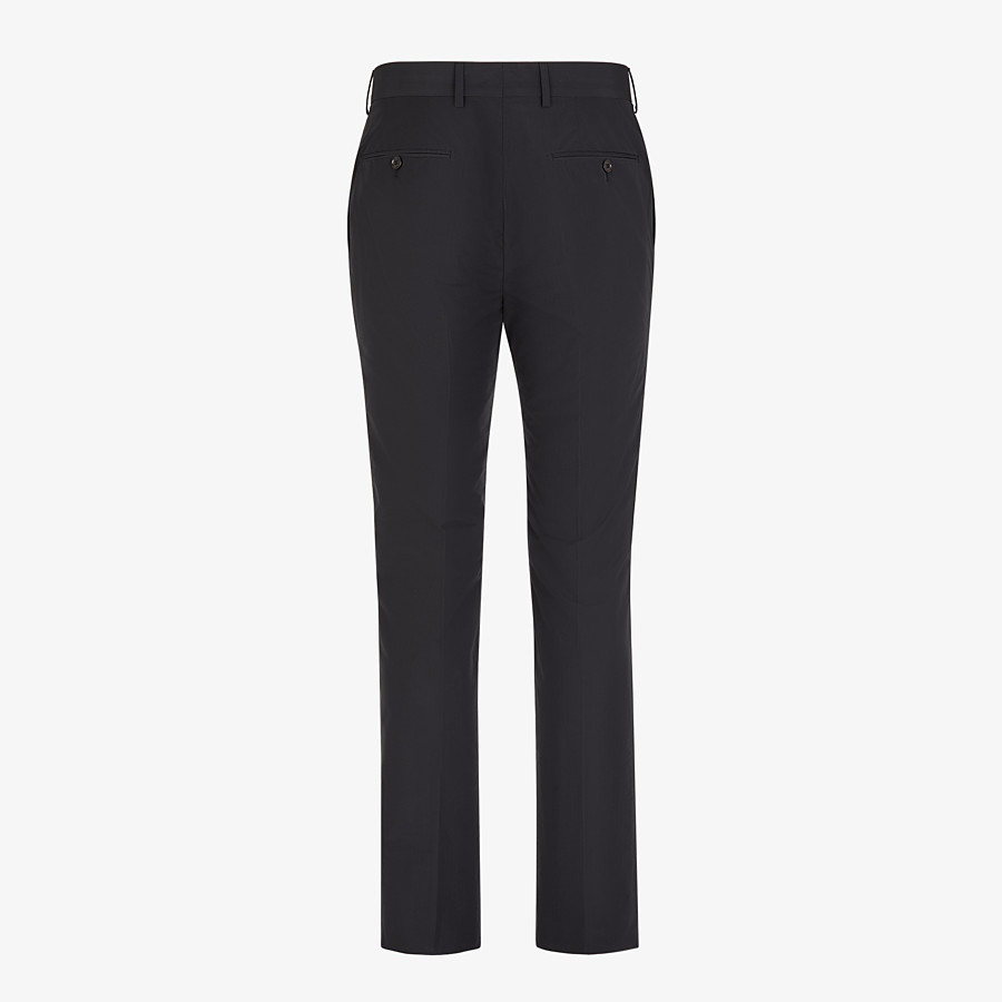 FENDI TROUSERS - Black nylon and cotton trousers - view 2 detail