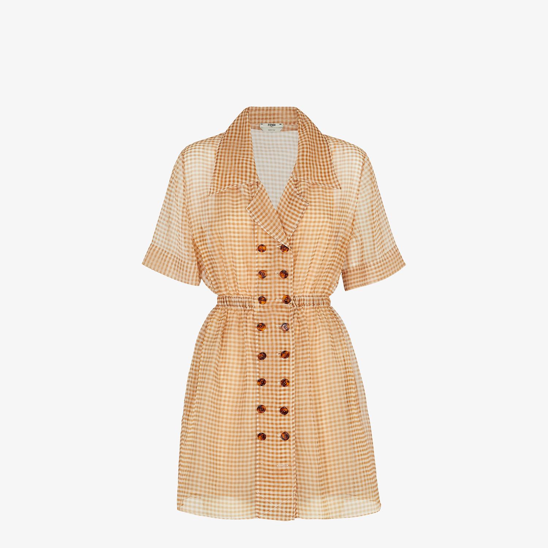 FENDI KLEID - Kleid aus Organza mit Vichykaros - view 1 detail