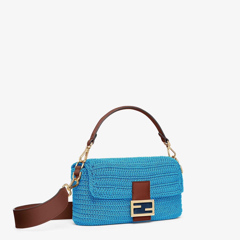 FENDI BAGUETTE - Blue cotton crochet bag - view 2 detail