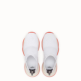 FENDI SNEAKERS - Sneakers aus Hightech-Jacquard in Weiß - view 4 thumbnail