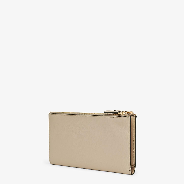 FENDI BIFOLD - Beige leather wallet - view 2 detail