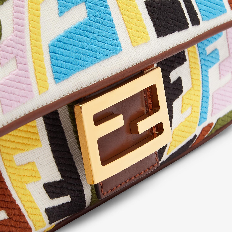 FENDI BAGUETTE - Multicolour embroidered canvas bag - view 6 detail