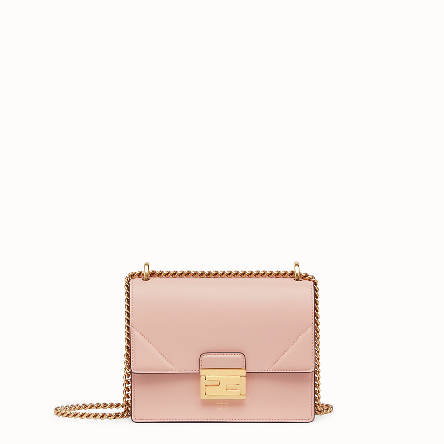 FENDI KAN U SMALL - Mini-Tasche aus Leder in Rosa - view 1 detail