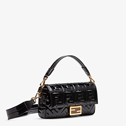 FENDI BAGUETTE - Black vinyl bag - view 3 thumbnail