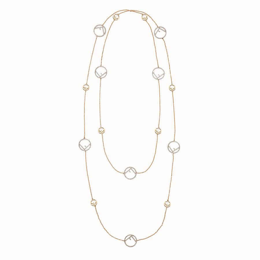 FENDI F IS FENDI NECKLACE - Gold-colour necklace - view 1 detail