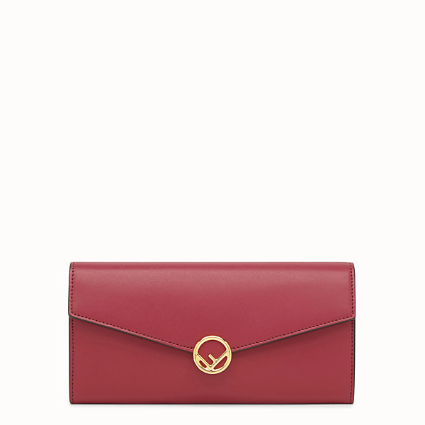 FENDI CARTERA CONTINENTAL - Cartera de piel roja - view 1 small thumbnail
