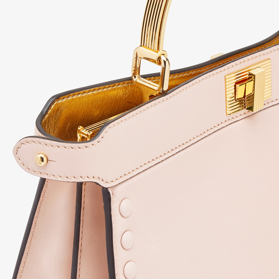 FENDI PEEKABOO ISEEU EAST-WEST - Pink leather bag - view 6 detail