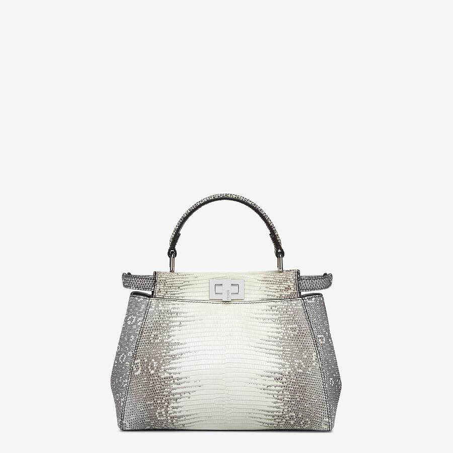 FENDI PEEKABOO ICONIC MINI - Gray gradient lizard leather bag - view 1 detail