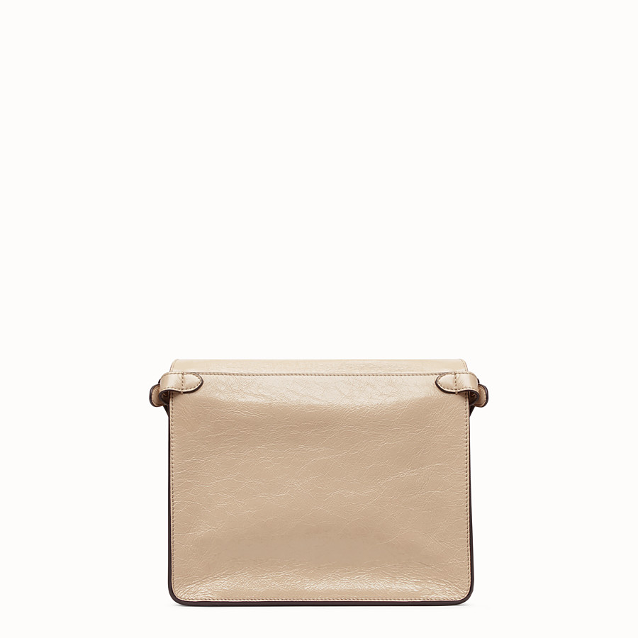 FENDI FENDI FLIP MEDIUM - Beige leather bag - view 5 detail