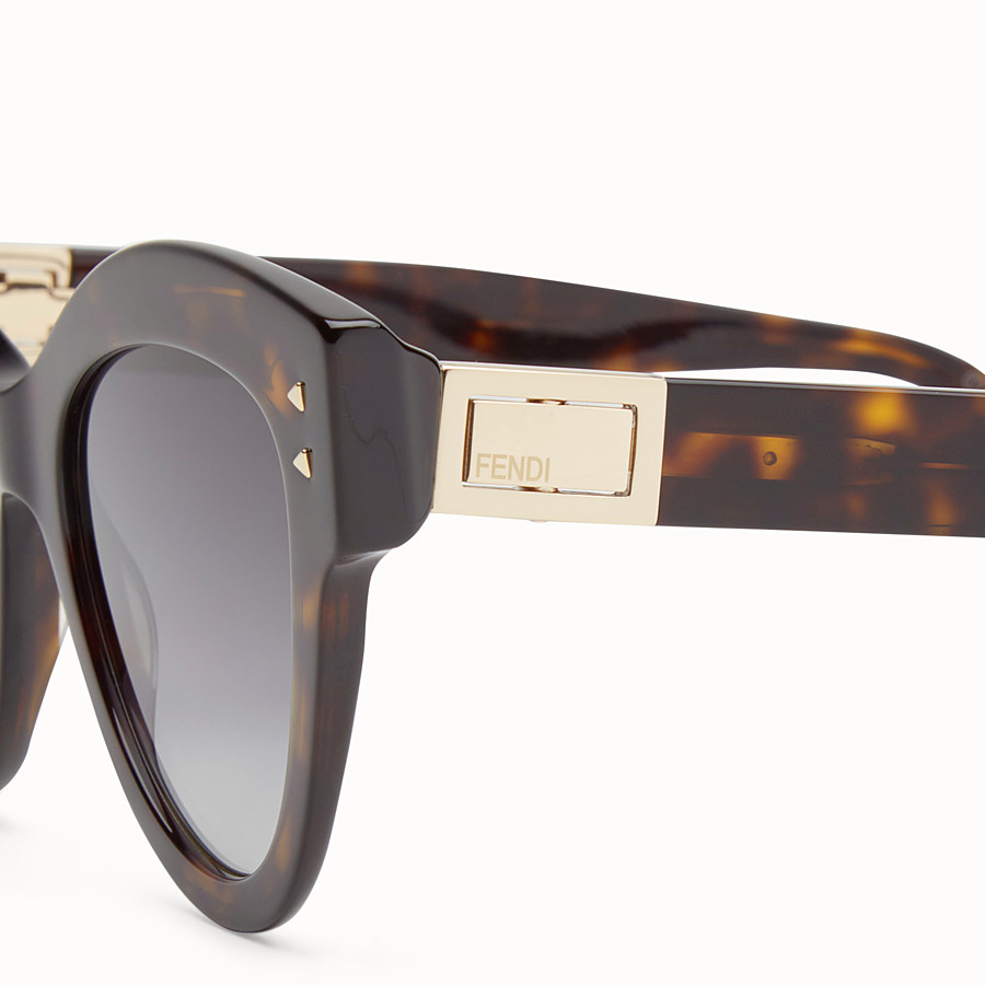 FENDI PEEKABOO - Havana brown sunglasses - view 3 detail