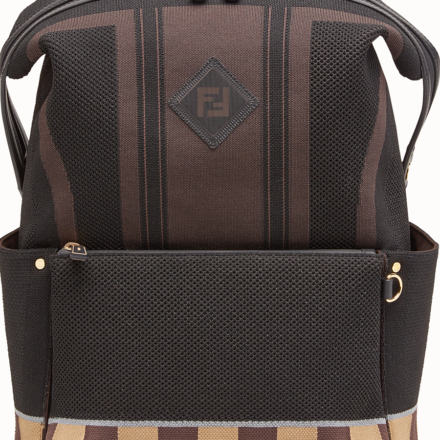 FENDI BACKPACK - Multicolor tech knit backpack - view 4 detail