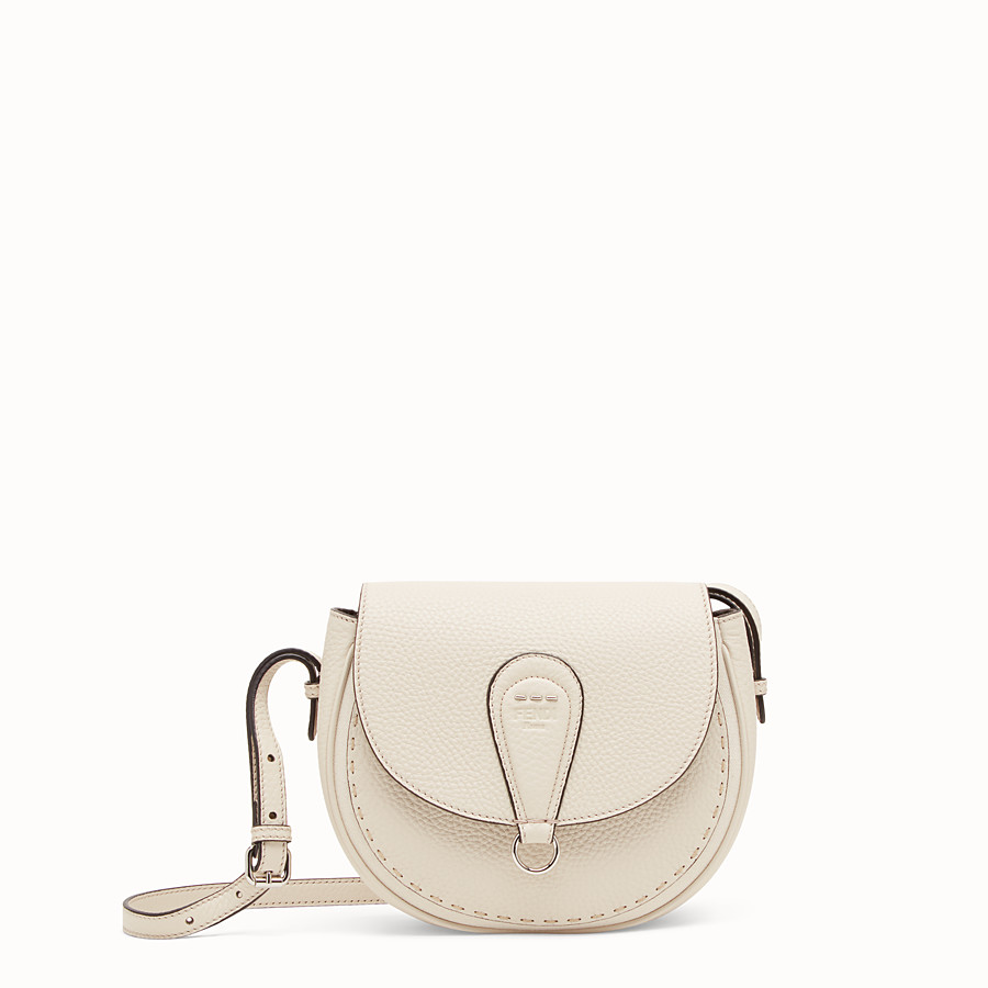 FENDI SHOULDER BAG - White leather bag - view 1 detail