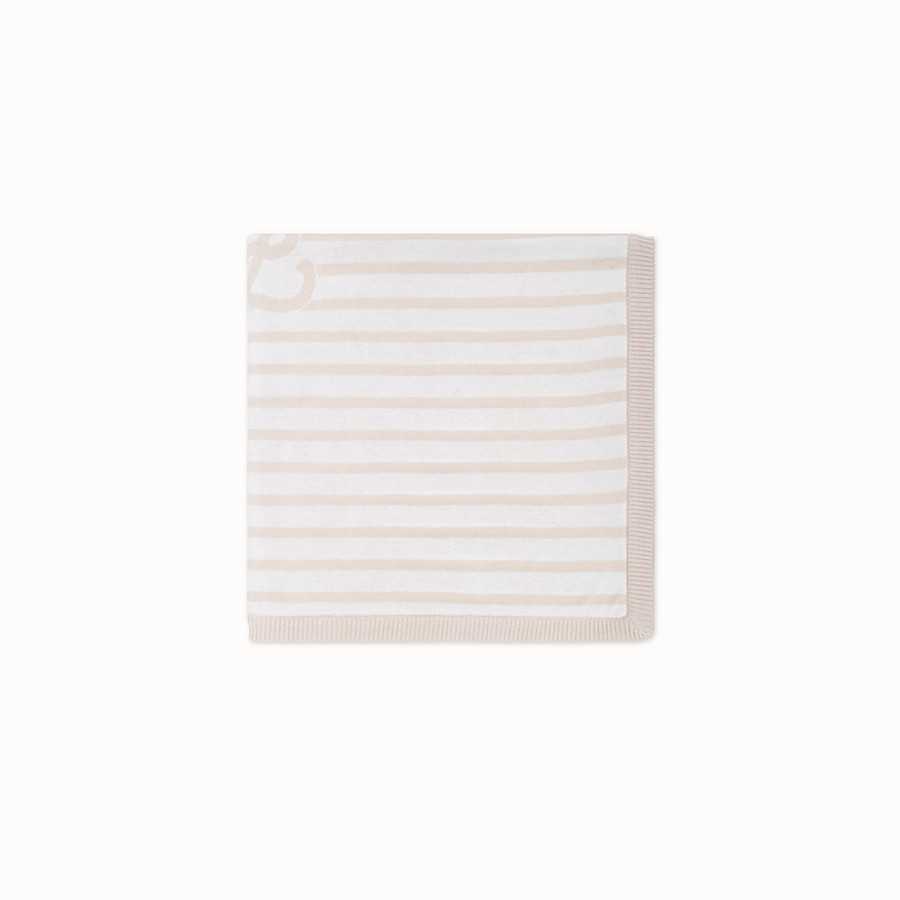FENDI KNITTED BABY BLANKET - Knitted blanket with inlay - view 1 detail
