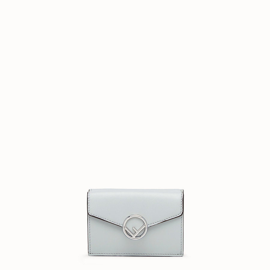 FENDI MICRO TRIFOLD - Gray leather wallet - view 1 detail