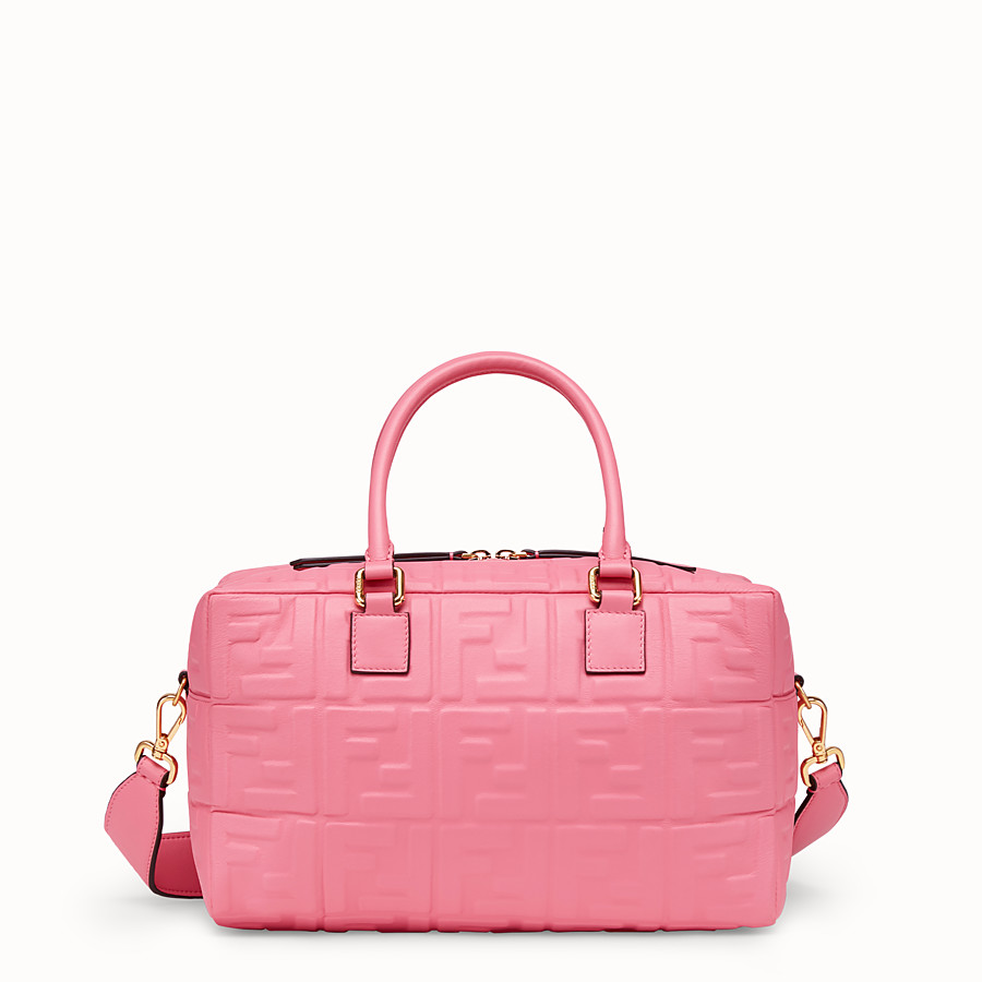FENDI BOSTON SMALL - Pink leather Boston bag - view 1 detail