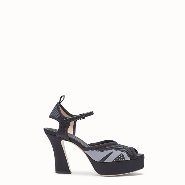 FENDI SANDALS - Sandals in black technical mesh - view 1 small thumbnail