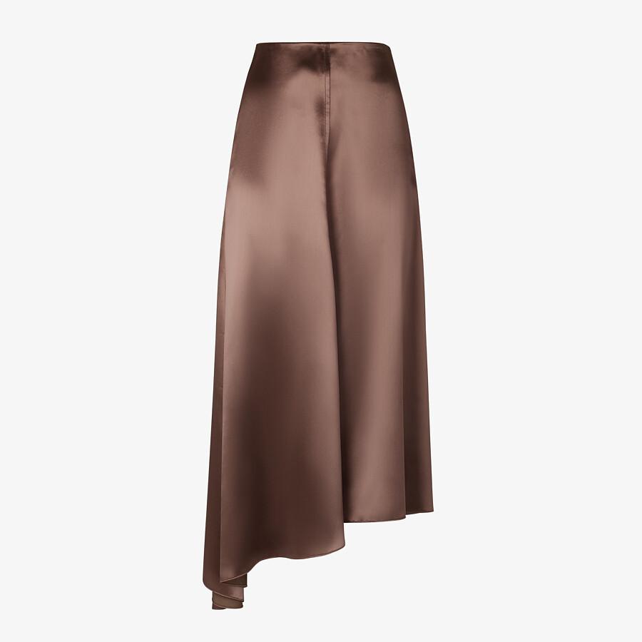 FENDI SKIRT - Brown satin skirt - view 1 detail