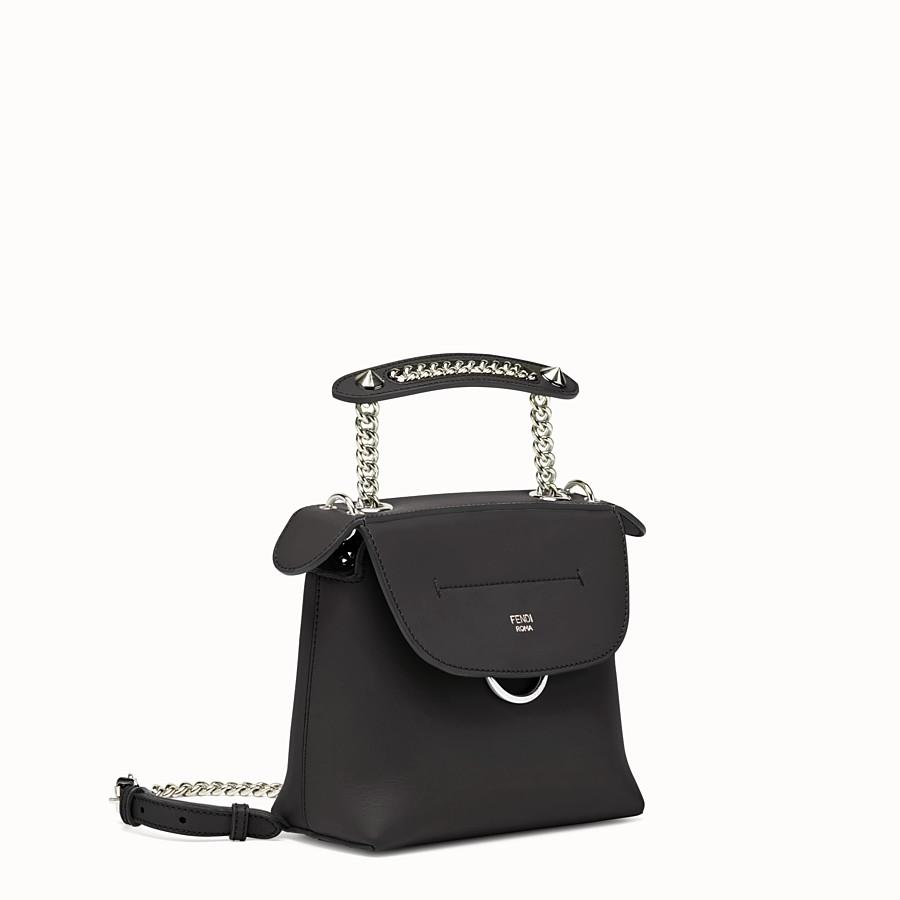 FENDI MINI BACK TO SCHOOL BACKPACK - Mini backpack in black leather - view 2 detail