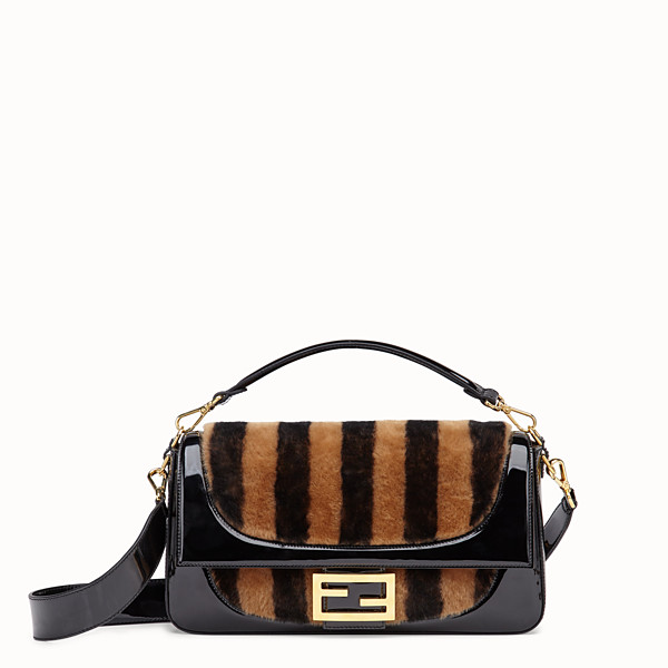 FENDI BAGUETTE LARGE - Multicolour, patent leather and sheepskin bag - view 1 small thumbnail