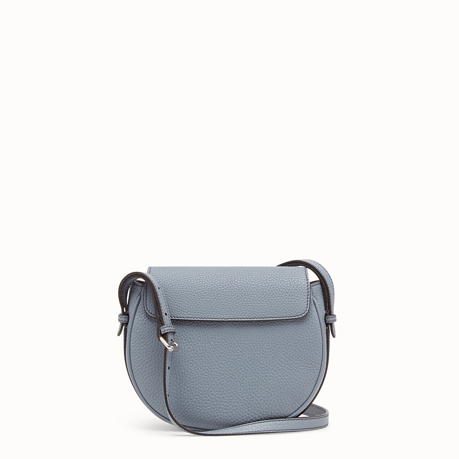 FENDI SHOULDER BAG - Pale blue leather bag - view 3 detail