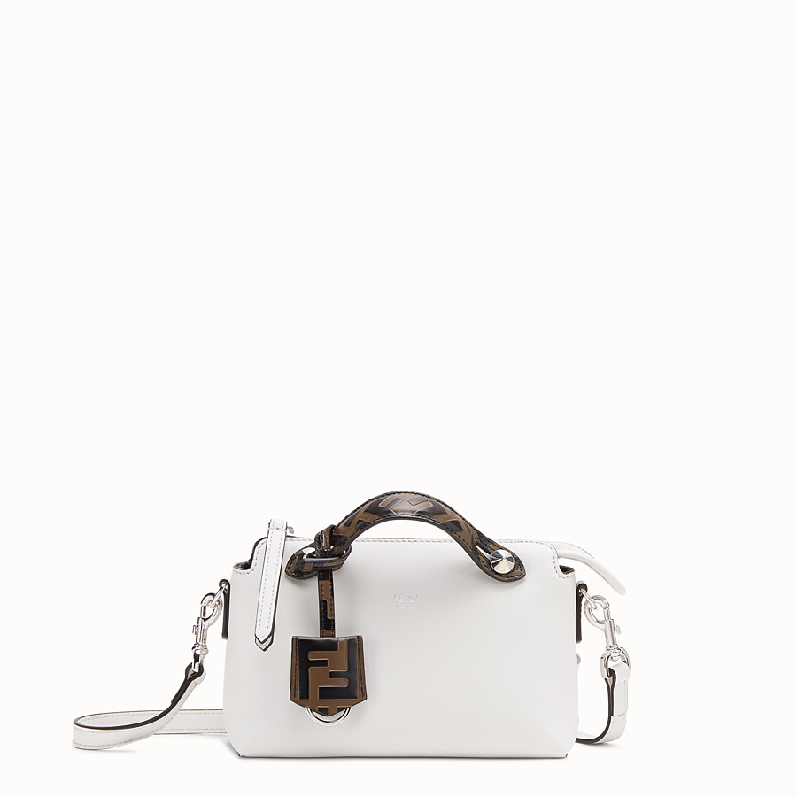 FENDI BY THE WAY MINI - Small white leather Boston bag - view 1 detail