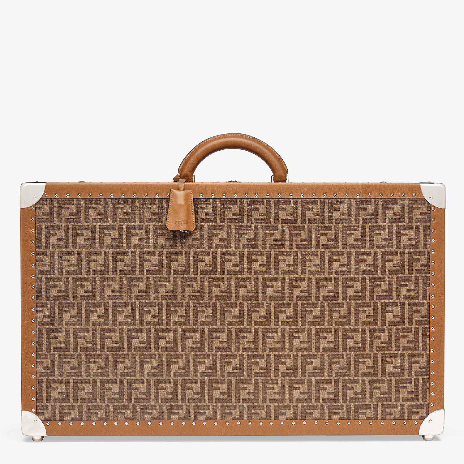 FENDI RIGID SUITCASE LARGE - Brown fabric suitcase - view 1 detail
