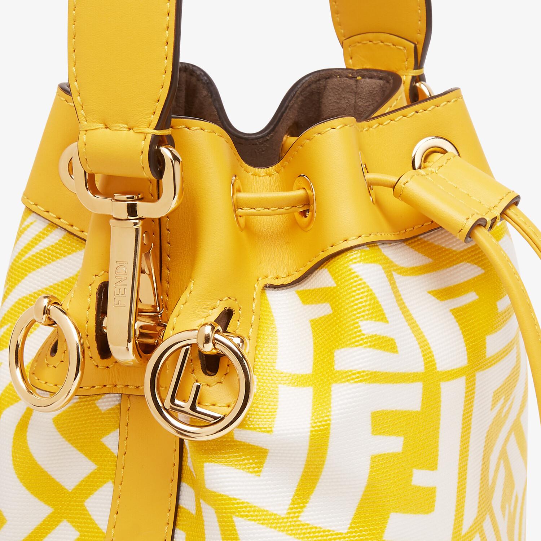 FENDI MON TRESOR - Yellow glazed canvas mini-bag - view 6 detail