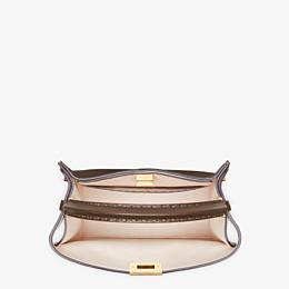 FENDI PEEKABOO X-LITE MEDIUM - Brown leather bag - view 6 thumbnail