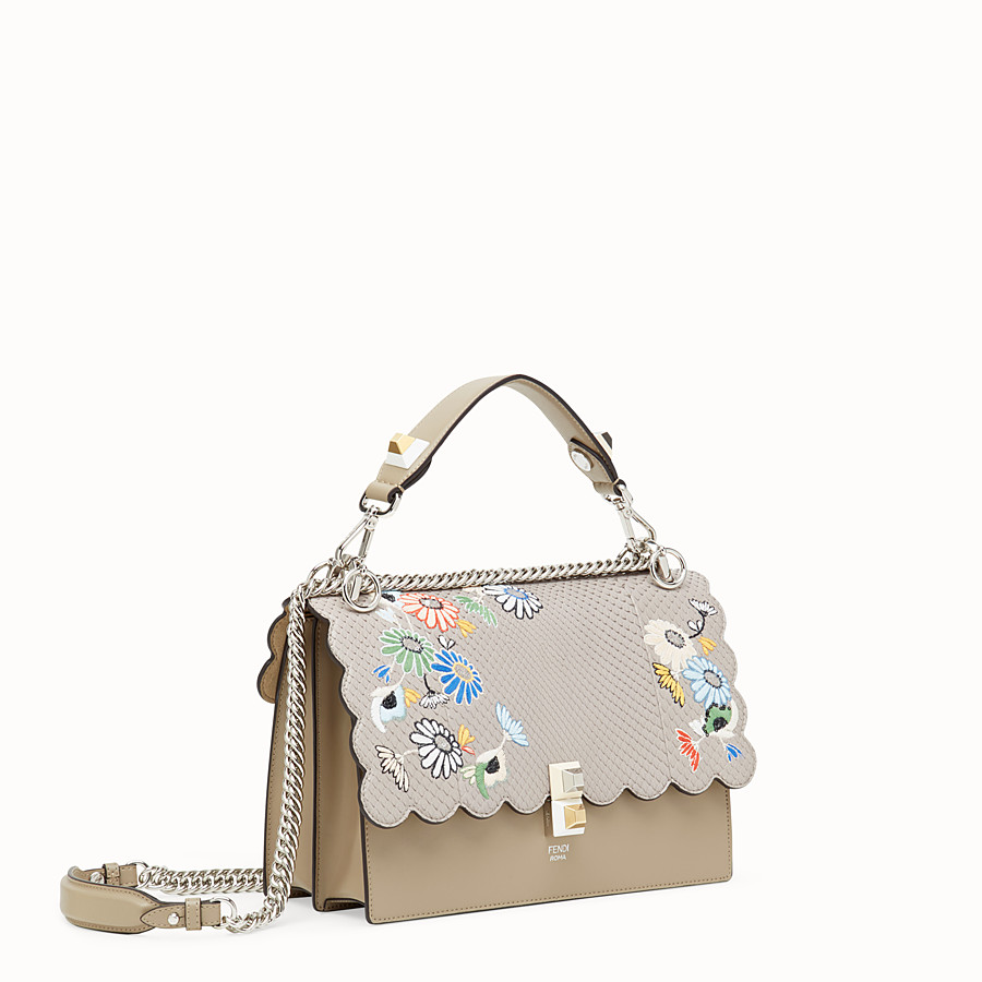 FENDI KAN I - Multicolour leather bag with exotic details - view 2 detail