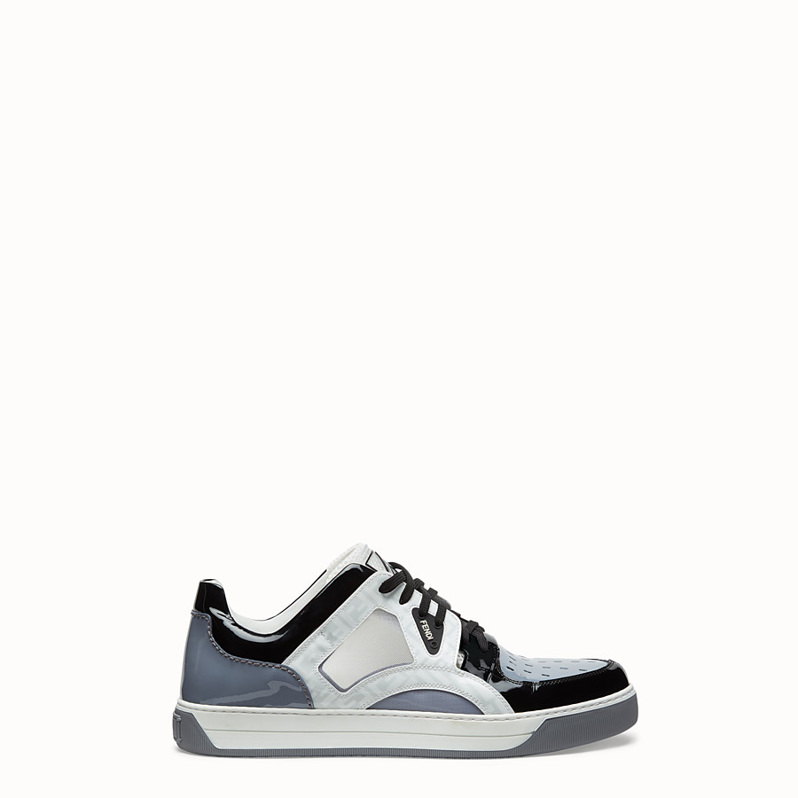 FENDI SNEAKERS - Multicolor patent leather low top - view 1 detail