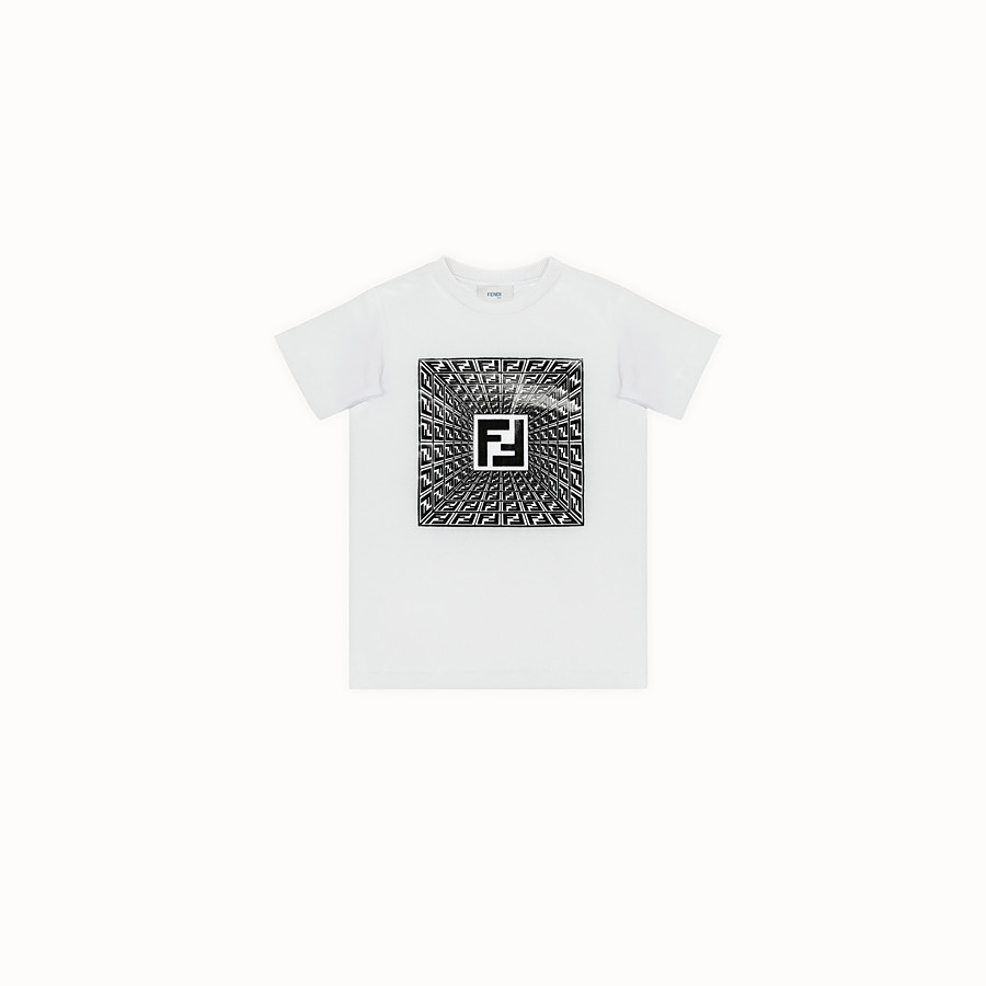 FENDI T-SHIRT - Fendi Prints On embossed T-shirt - view 1 detail