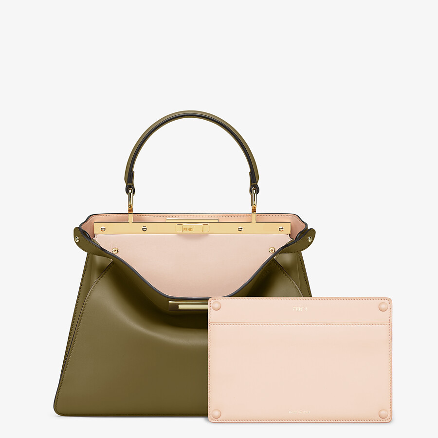 FENDI PEEKABOO ISEEU MEDIUM - Green leather bag - view 4 detail