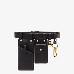 FENDI BELT - Black leather belt - view 1 thumbnail