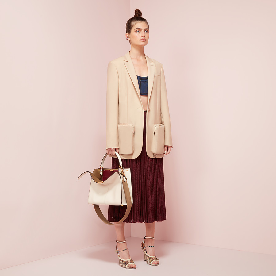 FENDI JACKET - Beige mohair blazer - view 4 detail