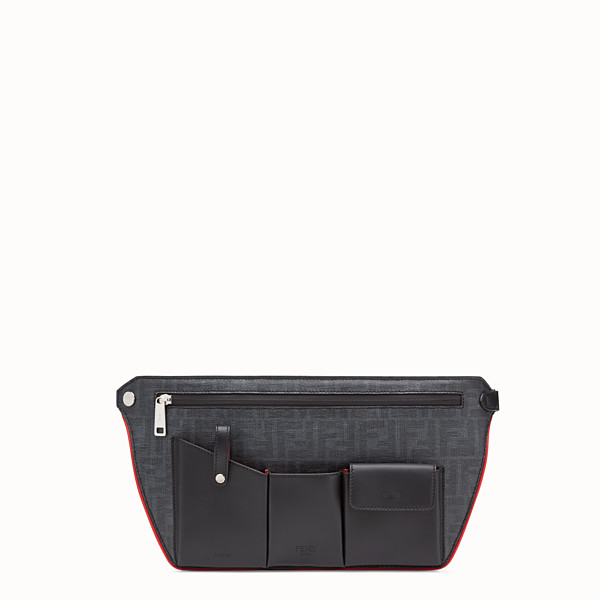 FENDI POUCH - Black fabric cross-body bag - view 1 small thumbnail