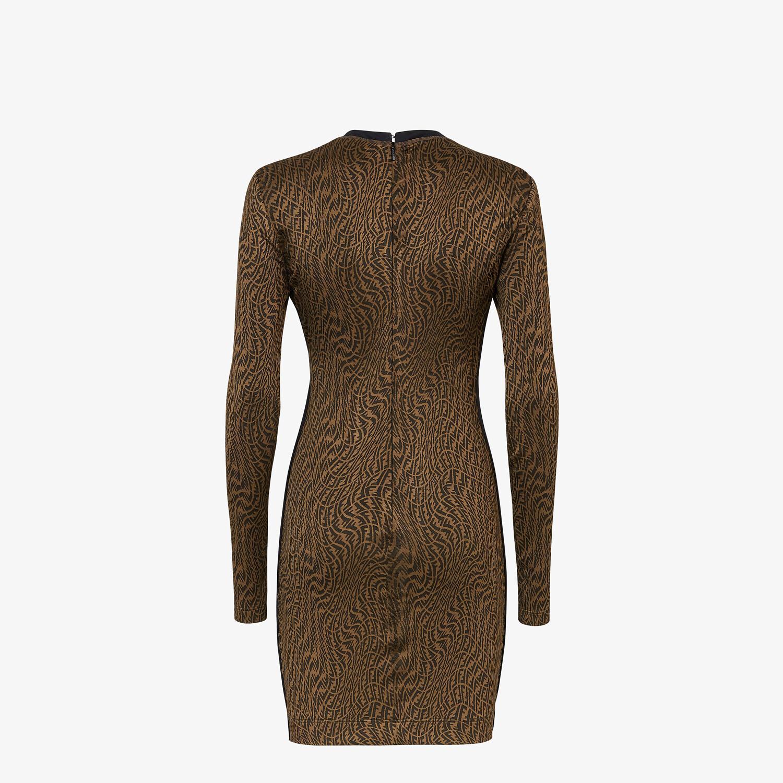 FENDI DRESS - Brown organzine dress - view 2 detail