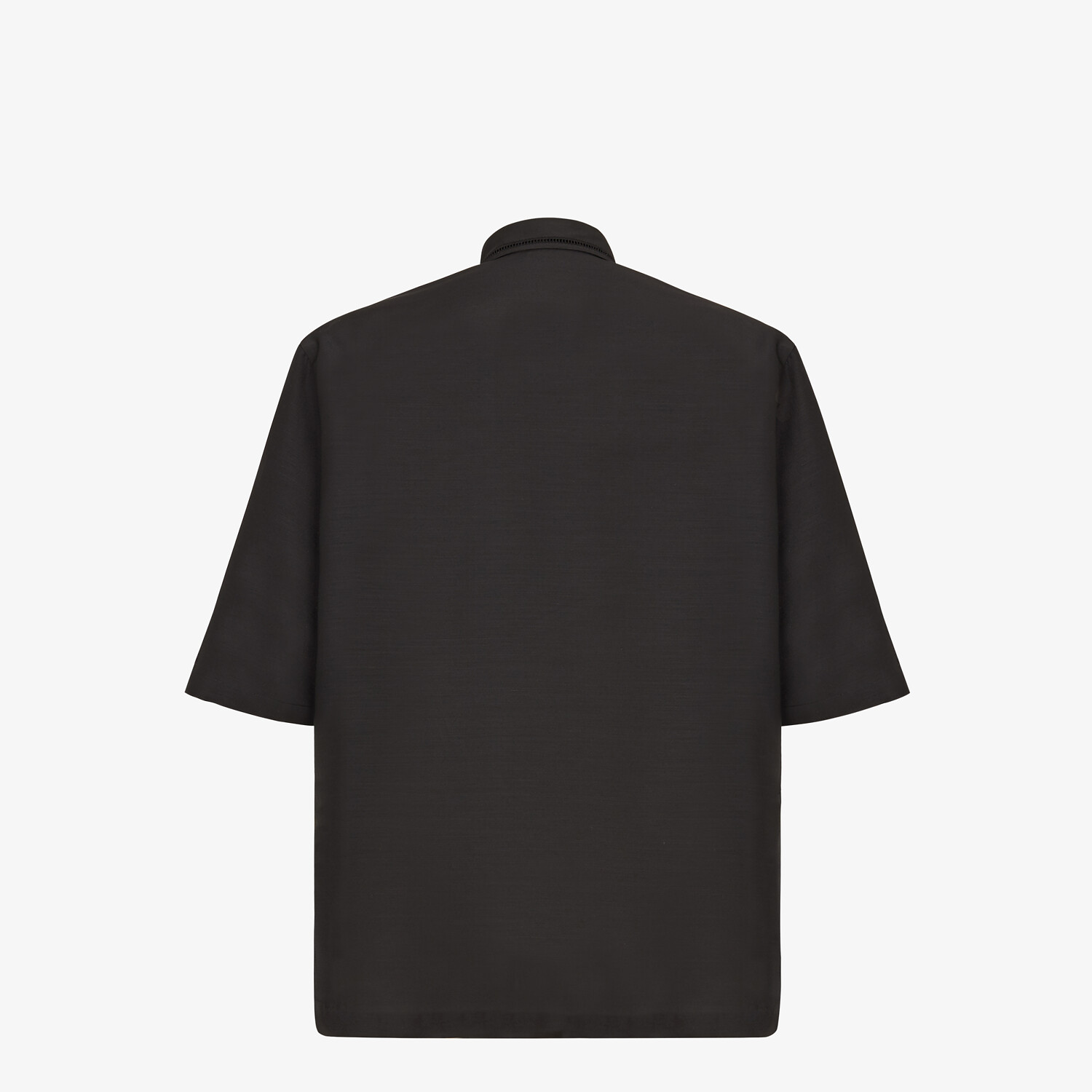 FENDI SHIRT - Black wool shirt - view 2 detail